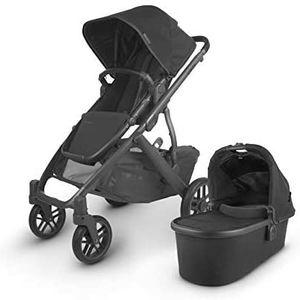 UPPAbaby Vista V2 Stroller - Jake (Black/Carbon/Black Leather) for Sale in North Las Vegas, NV