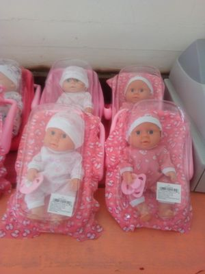Mini baby dolls with car seat and pacifier $6 each we only ship out on $15 orders are more for Sale in Palmdale, CA