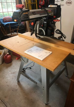 Craftsman 10in Radial Arm Saw - Table Saw for Sale in Chardon, OH