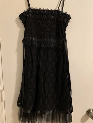 Black lace chiffon sleeveless dress for Sale in Aspen Hill, MD