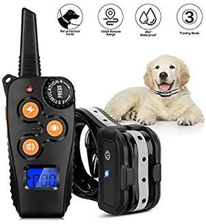 Azelf Dog Training Collar with 1800ft Remote, Waterproof Rechargeable Shock Collar with 3 Training Modes for Small Medium Large Dog for Sale in Altamonte Springs, FL