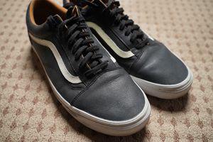 Vans Old Skool Black Leather size 11 for Sale in San Jose, CA