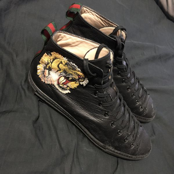 Gucci Leather high-top with tiger (9.5 US)