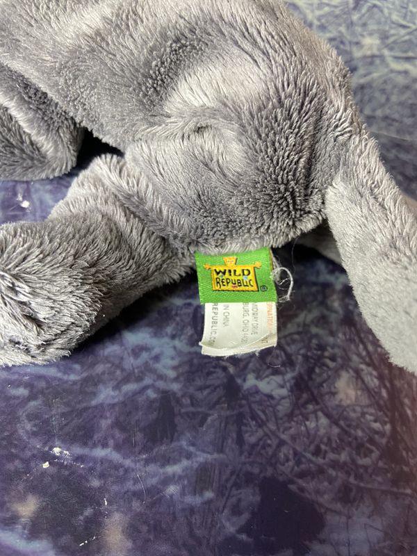 "Wild Republic Cat Floppy Gray 9"" long plush"