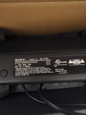 Sony soundbar with subwoofer for Sale in Wesley Chapel, FL