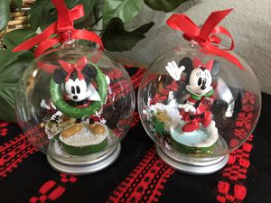 Pair of Minnie Mouse Collectible Ornaments for Sale in Austin, TX