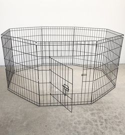 "(New In Box) $35 Foldable 30"" Tall x 24"" Wide x 8-Panel Pet Playpen Dog Crate Metal Fence Exercise Cage Play Pen for Sale in Whittier,  CA"
