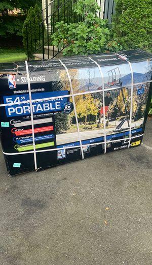 NBA spalding 54 portable angled basketball hoop, brand new! for Sale in Lake Hiawatha, NJ