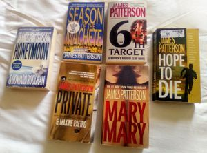 James Patterson $5 each book for Sale in Kennedale, TX