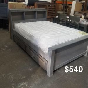 Full bed frame and mattress included for Sale in Los Angeles, CA