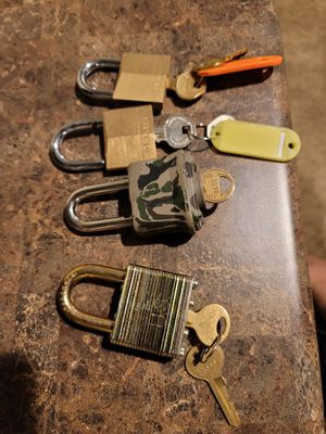 4 sets of locks with keys for Sale in Colorado Springs, CO