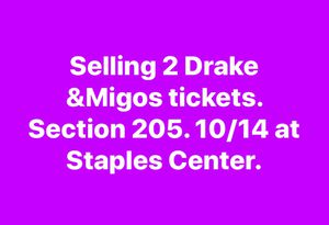 Drake and migos concert for Sale in Goleta, CA