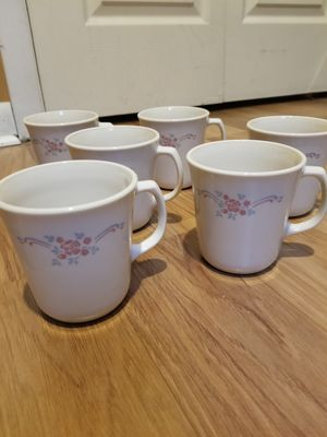 Corningware English Breakfast Pink Roses Mugs for Sale in Hopatcong, NJ