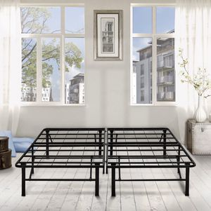 """Premier 14"""" High Profile Platform Metal Bed Frame, California King for Sale in Rochester, NY"""
