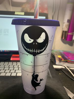 Nightmare before Christmas custom starbucks cup for Sale in Dallas, TX