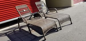 2 wicker chaise lounges for Sale in Morrisville, NC
