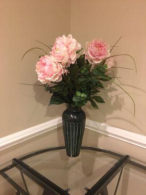 Flower with vase $30 for Sale in Fairfax, VA