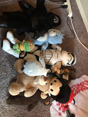 Stuffed animals, bears, ninja turtles, Star Wars for Sale in San Antonio, TX