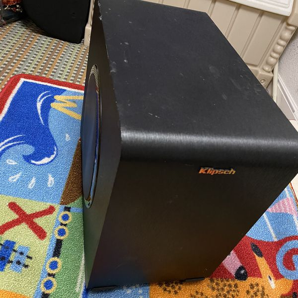 Klipsch RSB-11 Wireless Subwoofer... Fully Working Condition... It needs a little cleaning... It collected dust spots as shown...