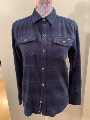 NWT Women's Lucky Brand Blue/Black Plaid Long Sleeve Flannel Button Down Shirt - Size M for Sale in Falls Church, VA