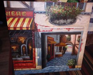Sidewalk Cafe Canvas Wall Art for Sale in Bloomington, IL