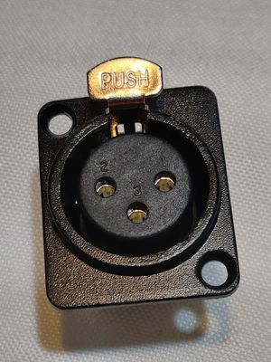 3 Pole Female XLR panel connector, locking for Sale in Molalla, OR