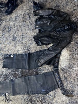 Harley-Davidson Genuine Leather Motorcycle Jacket And Leather Chaps for Sale in Sayreville, NJ