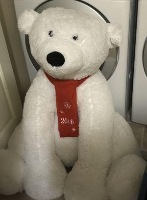 3ft tall polar bear stuffed animal for Sale in Lynnwood, WA