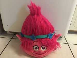 It's a pillow with realistic hair it's poppy from the movie trolls for Sale in Clovis, CA