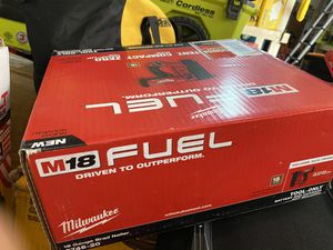 New Milwaukee fuel 18 gauge Brad nailer $235 for Sale in Boston, MA