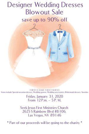Designer Wedding Dresses BLOWOUT SALE for Sale in Las Vegas, NV