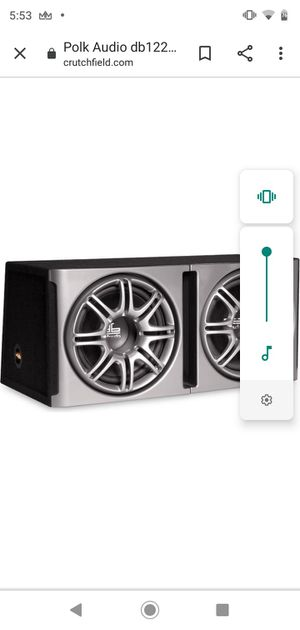 "Polk audio 12"" subs no amp for Sale in Denver, CO"