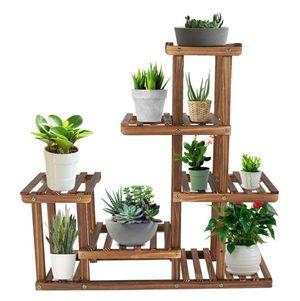 Multiple Tiers Wooden Plant Stand Display for Indoor or Outdoor Garden for Sale in Corona, CA
