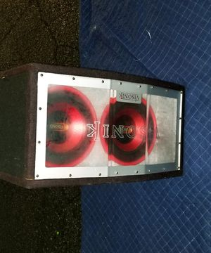 (2)Visonik Sub woofers and Amp. for Sale in Aspen Hill, MD