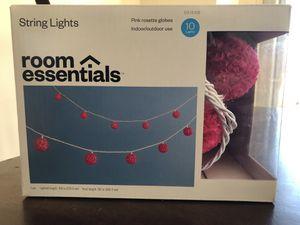 Pink rosette string lights for Sale in Gainesville, VA