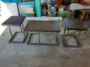 Black coffee table and 2 end tables for Sale in Citrus Heights, CA