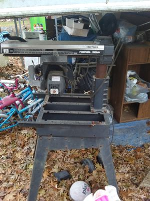 "Craftsman 10"" Radial Saw for Sale in Terre Haute, IN"