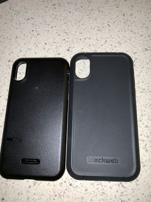 Black web iPhone case for iPhone X or XS just used for two days practically new for Sale in Perris, CA