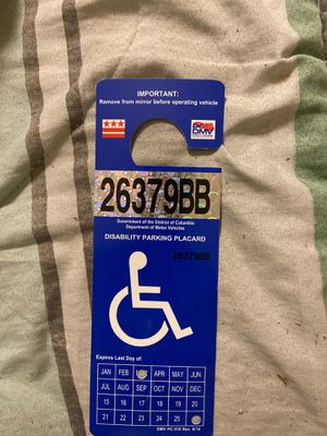 Disability Parking Placard ( 6years) for Sale in Washington, DC