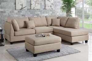 Tan sofa sectional couch for Sale in Downey, CA