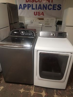 WP Cabrio Top Load Washer and Samsung Electric Dryer Set for Sale in Virginia Beach, VA