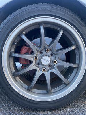 17 x7 5x100 kyowa racing monoblock lightweight rims for Sale in Hialeah, FL