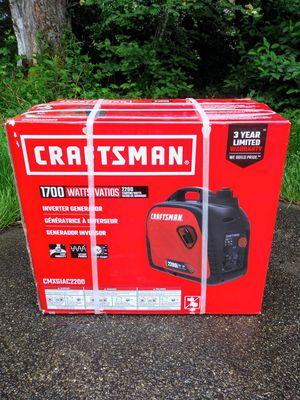 Craftsman 2200i Super Quiet Inverter Lightweight Portable Gas Generator for Sale in Tacoma, WA