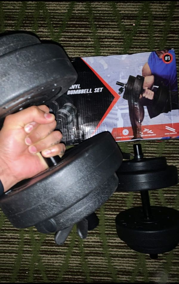 CAP Barbell 40lb Vinyl Dumbbell Set!