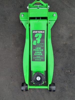 3 Ton Long Reach Low Profile Professional Rapid Pump® Floor Jack - Green for Sale in Baldwin Park, CA