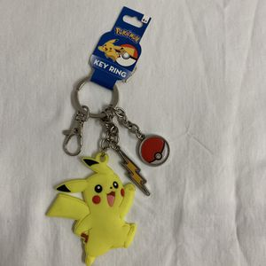 Pokemon Pikachu Keychain Metal and Rubber Key Chain Key Ring for Sale in Hialeah, FL