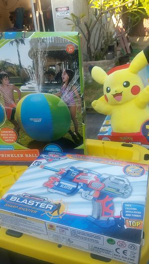 Pokemon $20 water ball $20 gun blaster $ 10 for Sale in Norwalk, CA