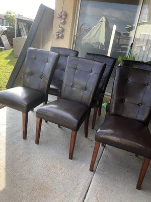 6 sillas de comedor for Sale in Homestead, FL