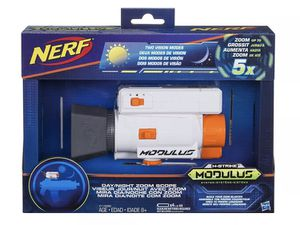 NEW NERF N-STRIKE MODULUS DAY NIGHT ZOOM SCOPE BUILD YOUR OWN BLASTER GUN TOY BOX for Sale in Houston, TX