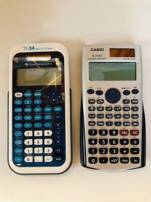 2 Scientific Calculators. for Sale in Dinuba, CA